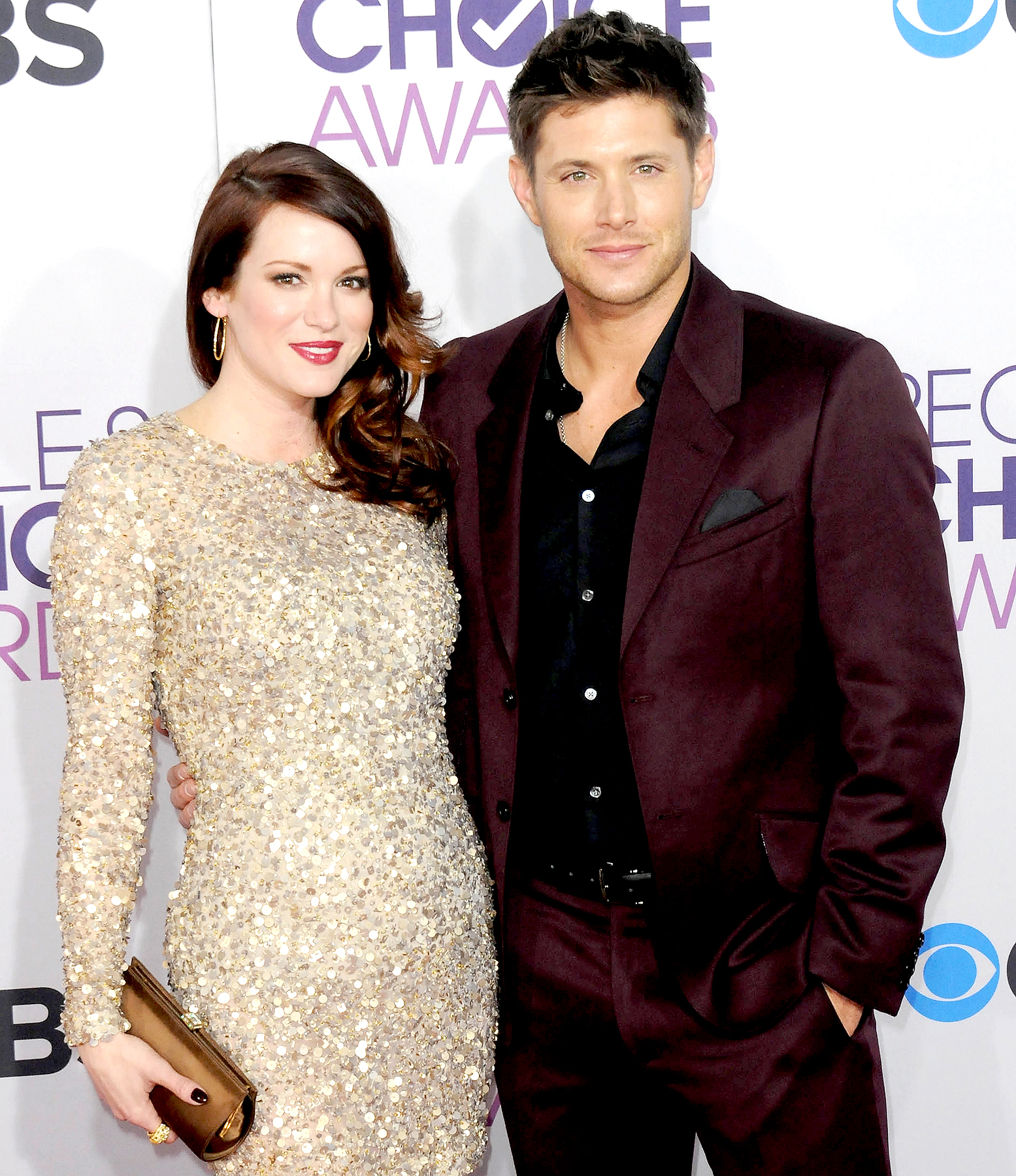 Danneel Harris and Jensen Ackles arrive for the 34th Annual People's Choice Awards - Arrivals held at Nokia Theater at L.A. Live on January 9, 2013 in Los Angeles, California.