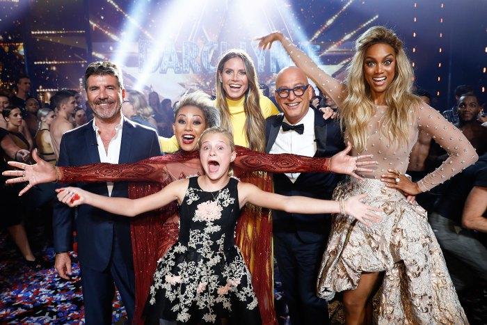 Simon Cowell, Mel B, Darci Lynne, Heidi Klum, Howie Mandell, Tyra Banks America's Got Talent AGT