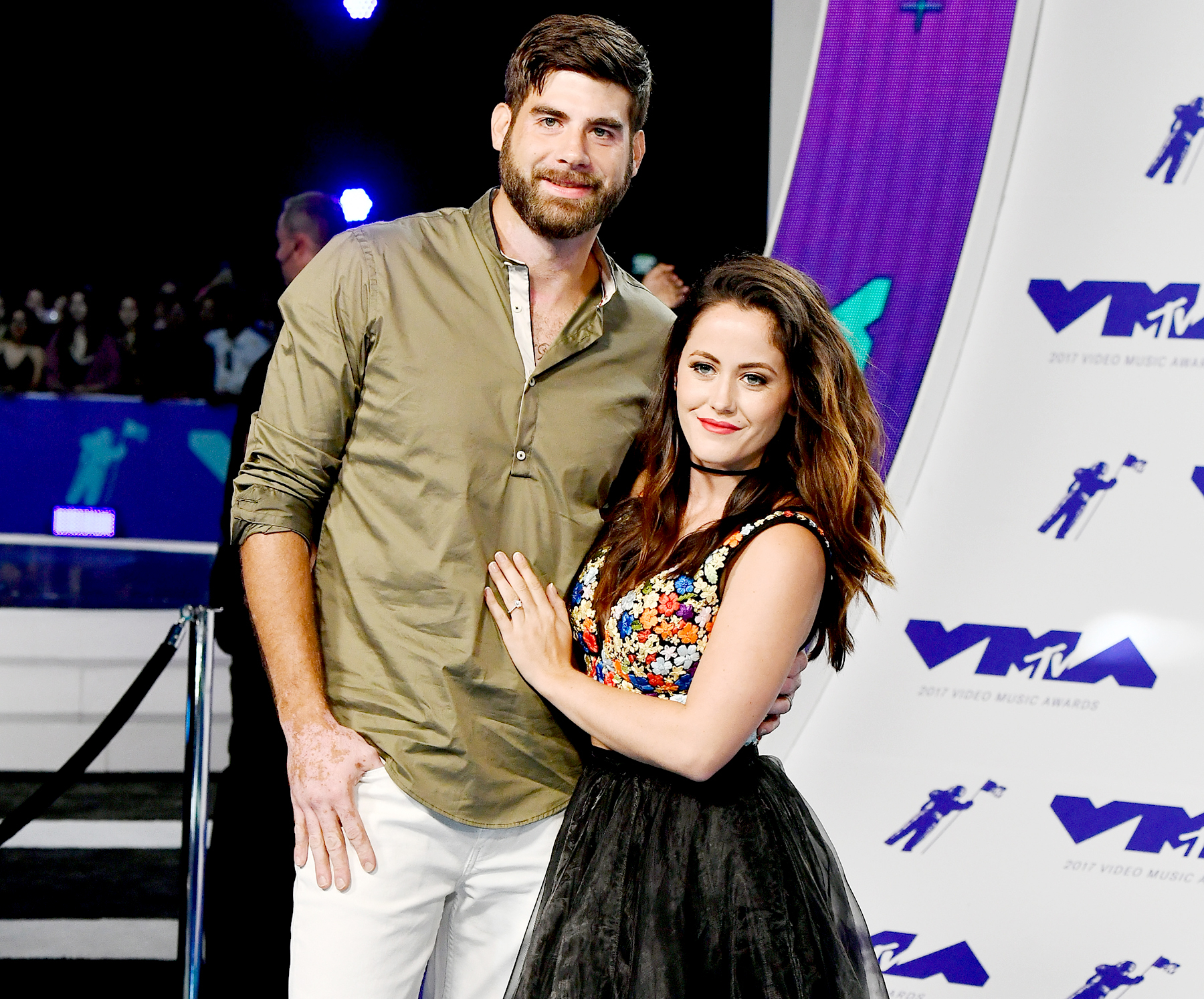 David Eason and Jenelle Evans attend the 2017 MTV Video Music Awards at The Forum on August 27, 2017 in Inglewood, California.