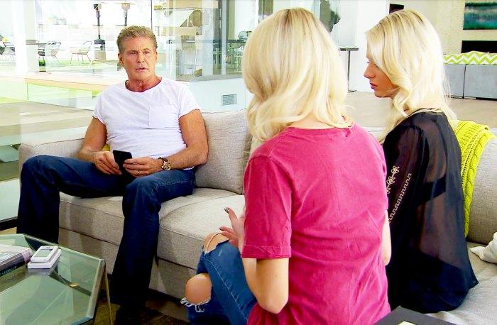 David Hasselhoff, Emily Ferguson and Haley Ferguson Happily Ever After