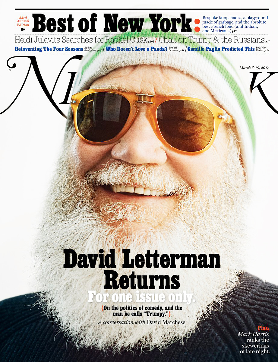 David Letterman New York Magazine cover