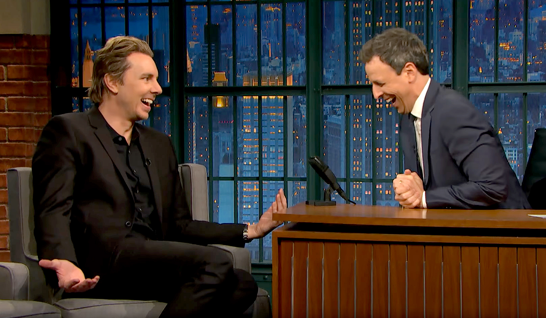 Dax Shepard and Seth Meyers