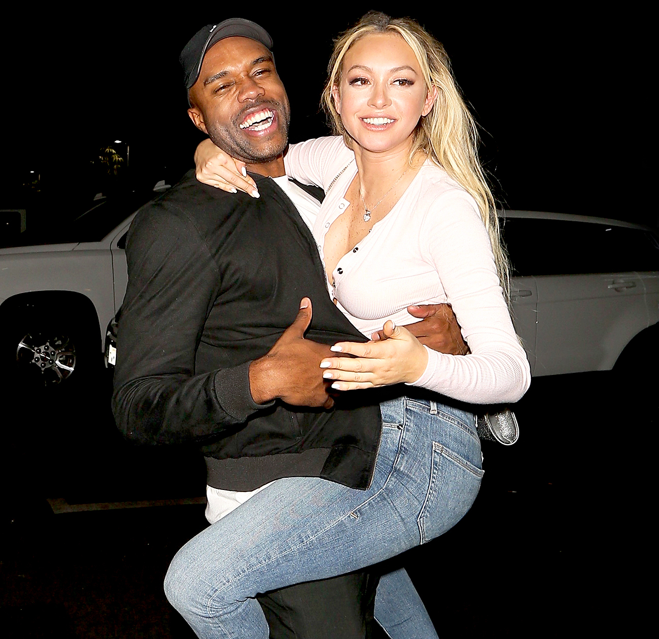 DeMario Jackson and Corinne Olympios Are 'Just Friends' Despite That Kiss