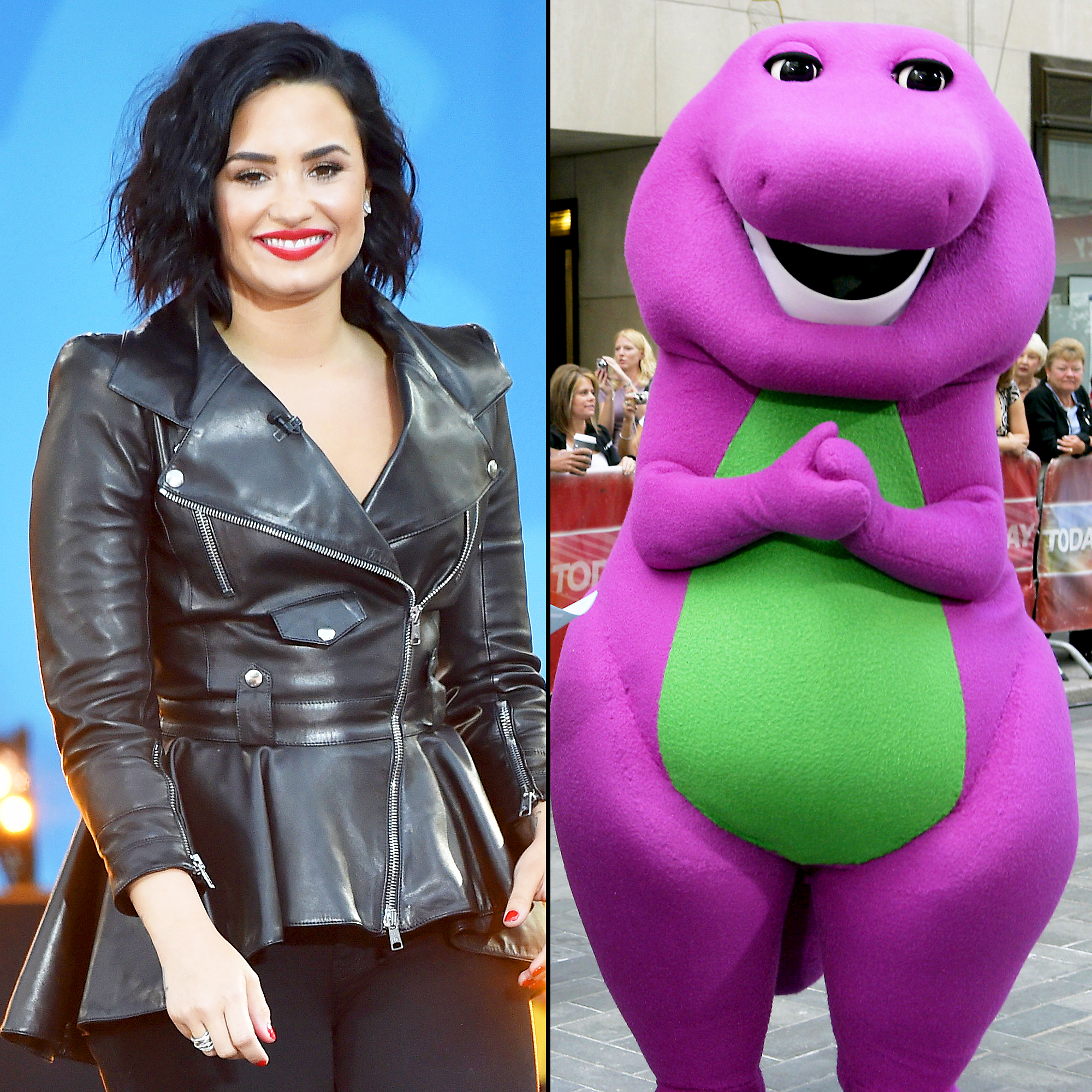 Demi Lovato And Barney