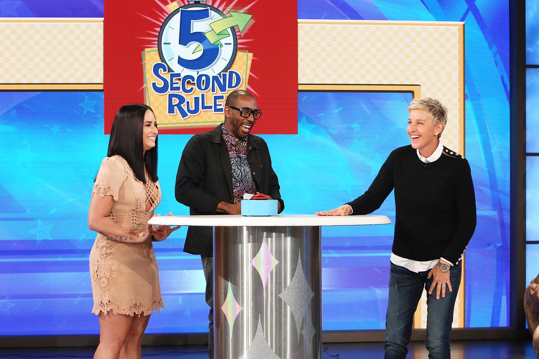Demi Lovato Ellen DeGeneres 5-Second Rule Game
