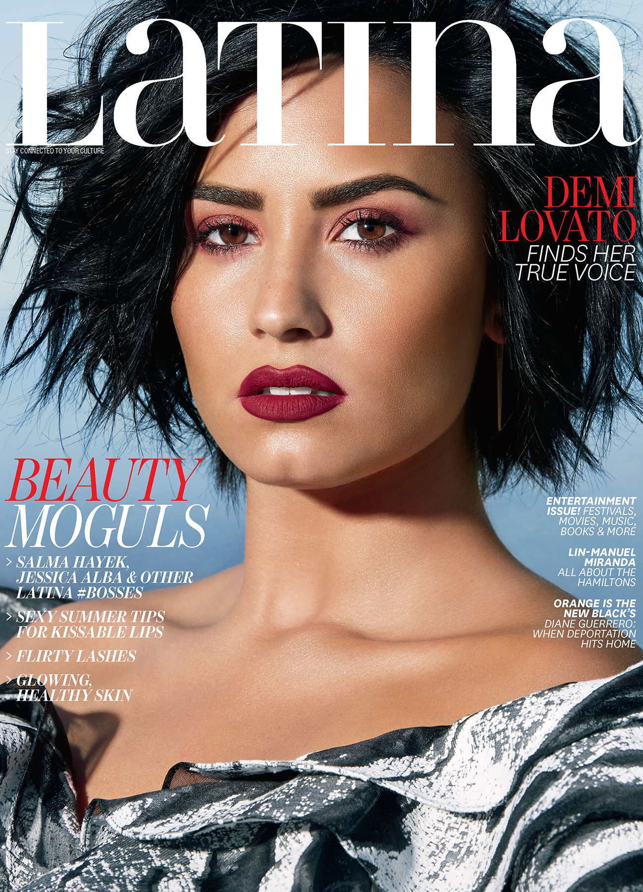Demi Lovato on Latina's June/July 2016 cover.