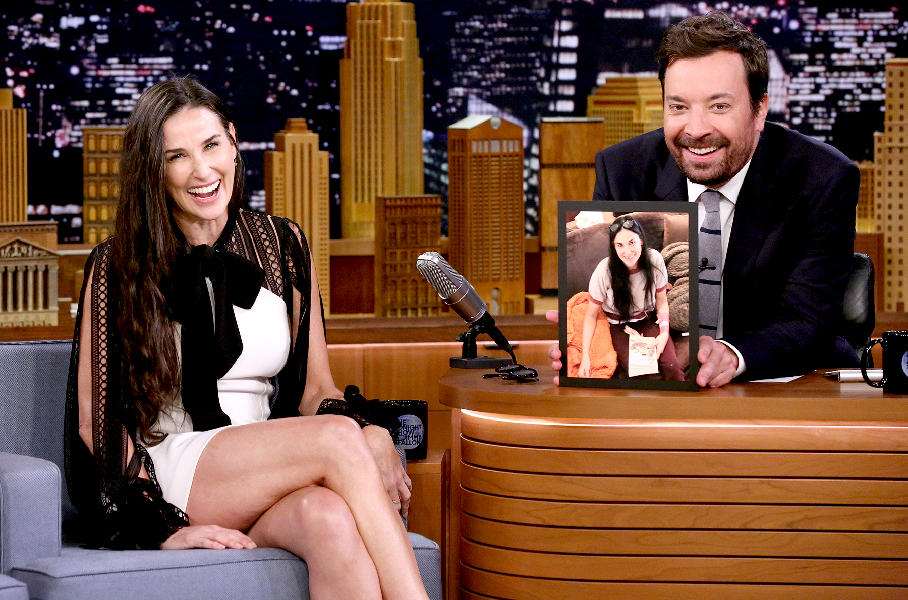 Demi Moore during an interview with host Jimmy Fallon on June 12, 2017.