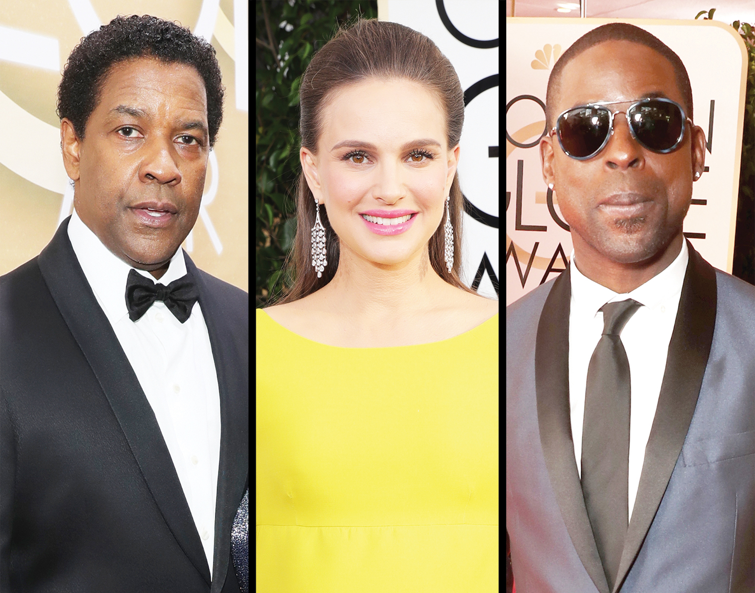 Denzel Washington, Natalie Portman and Sterling K. Brown