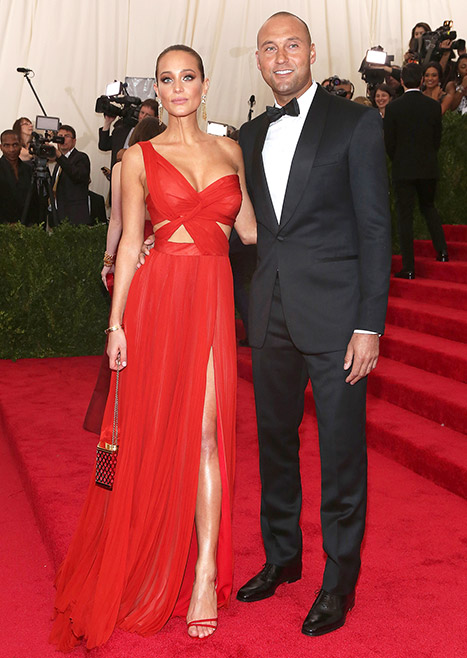 Derek Jeter and Hannah Davis at Met