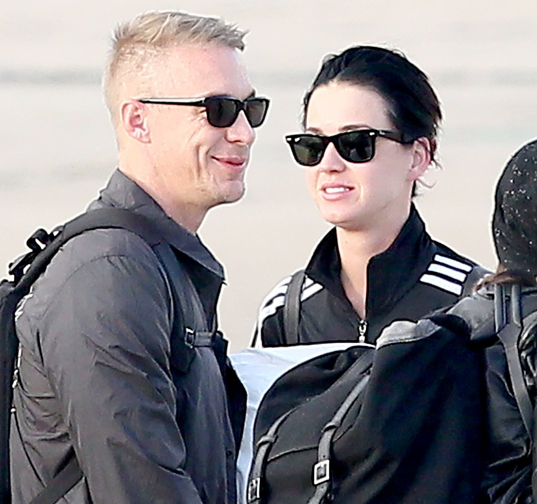 Katy Perry and Diplo fly to Paris on October 26, 2014.