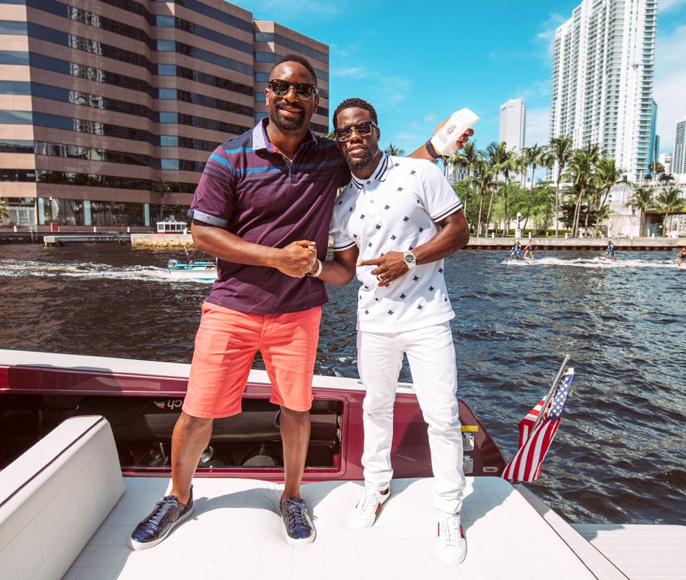 DJ IRIE and Kevin Hart