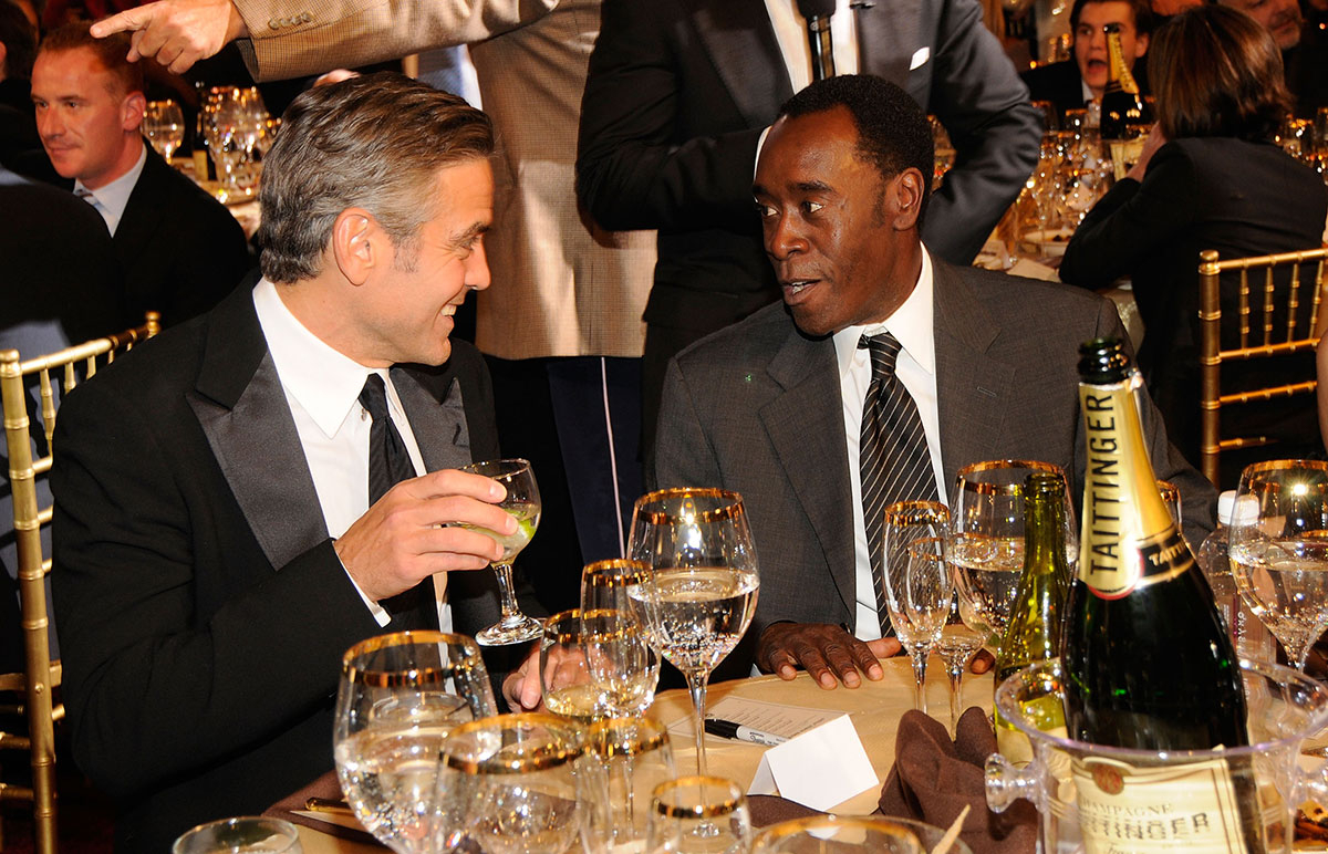 George Clooney and Don Cheadle pose inside at the 13th ANNUAL CRITICS' CHOICE AWARDS at the Santa Monica Civic Auditorium on January 7, 2008 in Santa Monica, California
