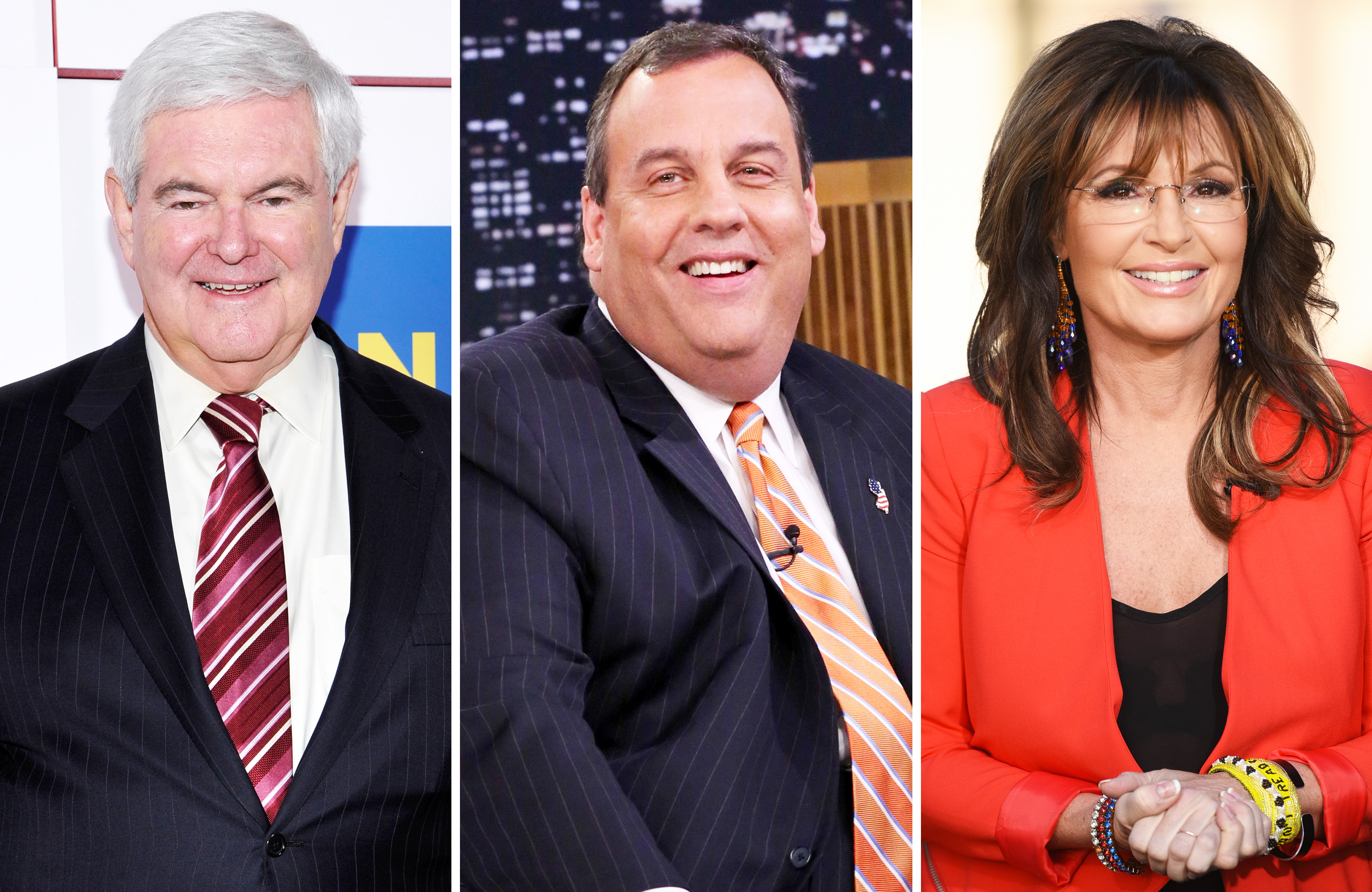 Newt Gingrich, Chris Christie and Sarah Palin