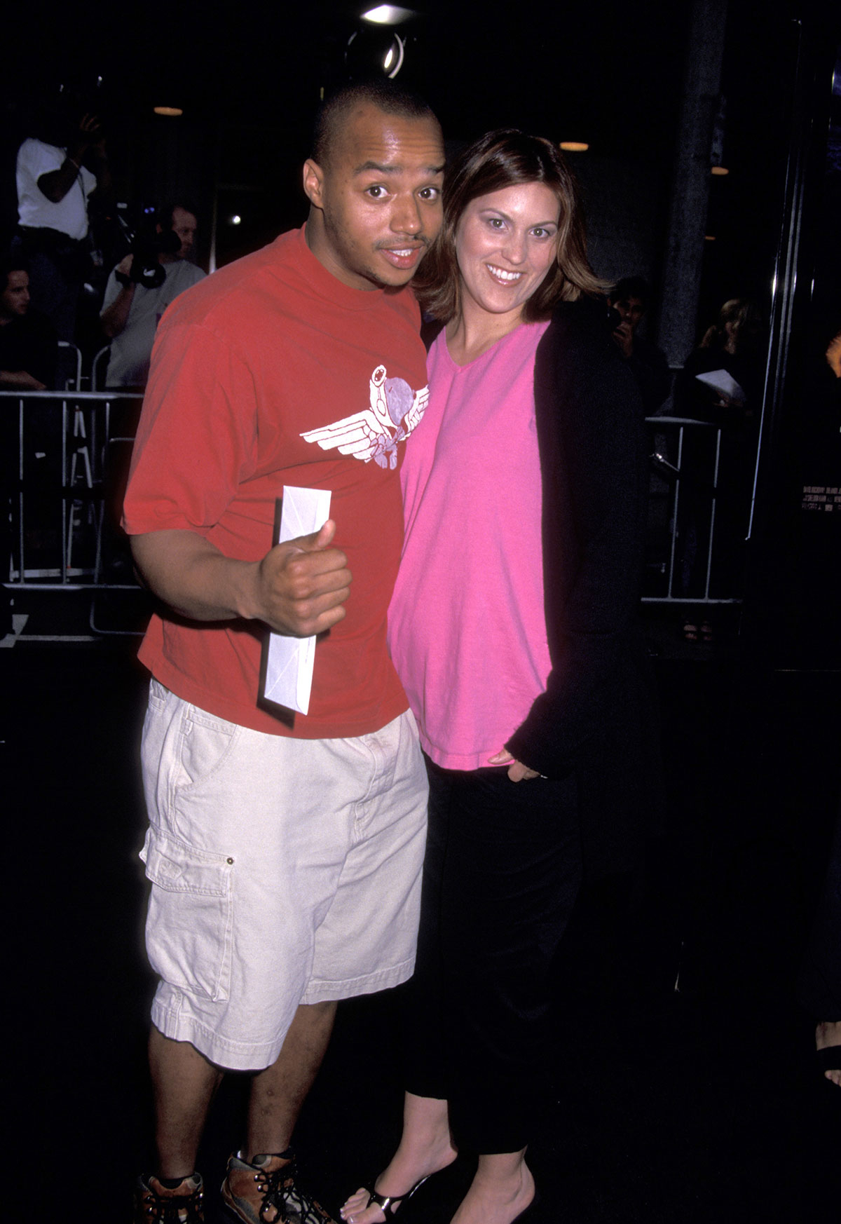 Donald Faison and Lisa Askey during Evolution Premiere at Mann National Theatre in Westwood, California in 2001