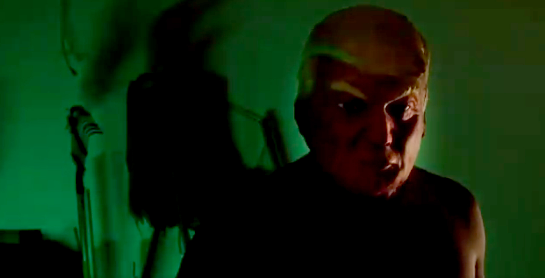 A Donald Trump mask appears in the American Horror Story: Cult's credits.