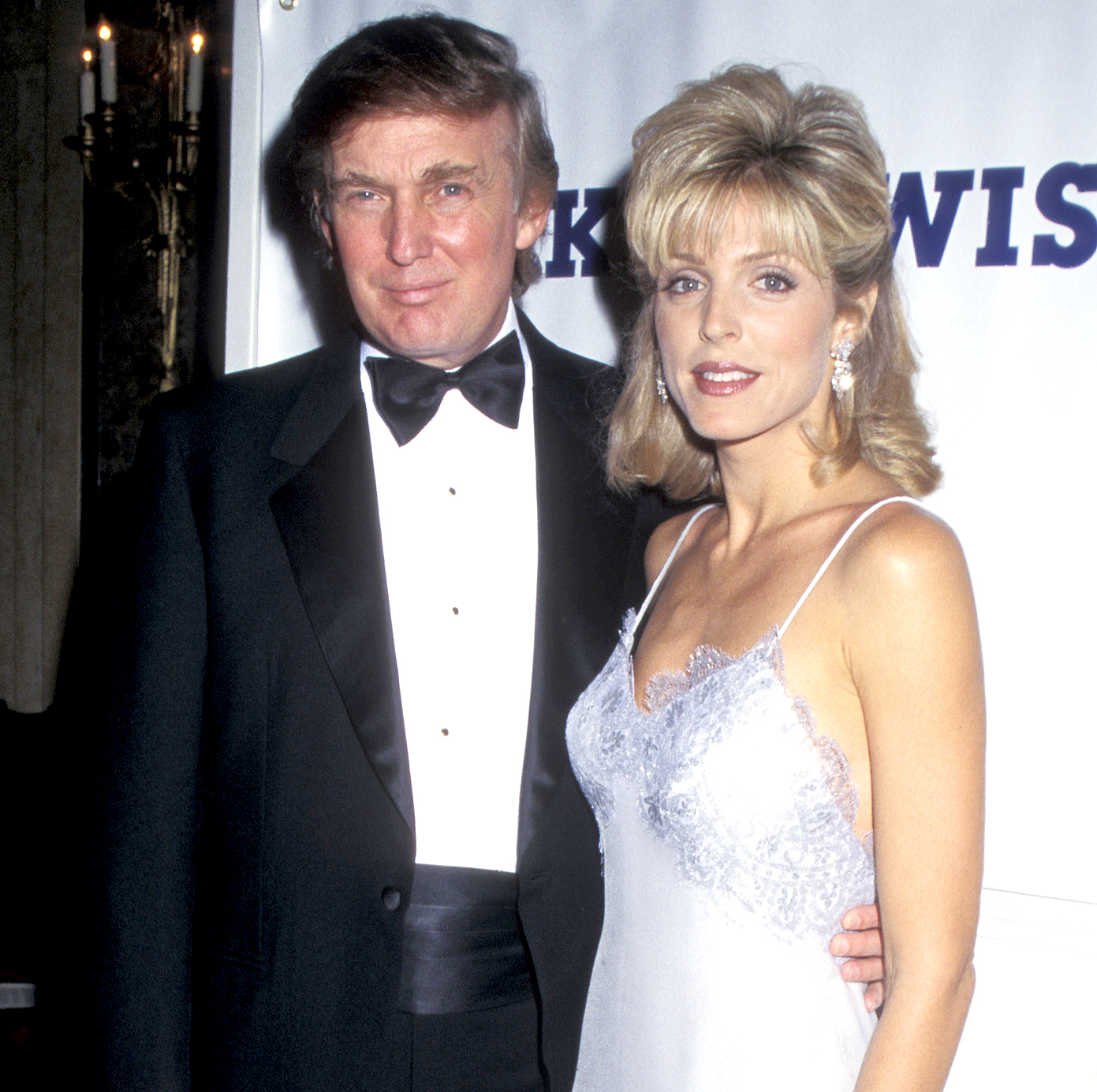 Donald Trump and Marla Maples during the Dinner Dance Benefit for the Make A Wish Foundation at the Plaza Hotel in New York City, in 1995.