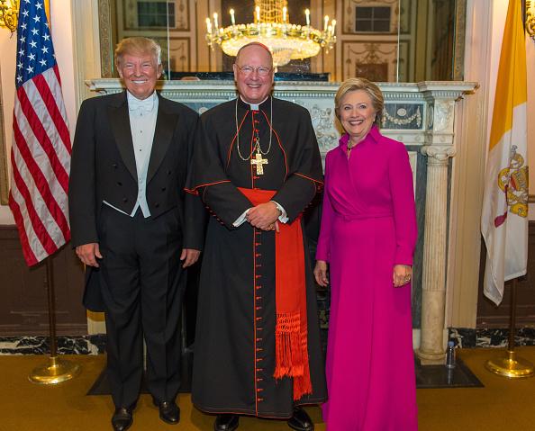 Donald Trump, Cardinal Timothy Dolan, Hillary Clinton