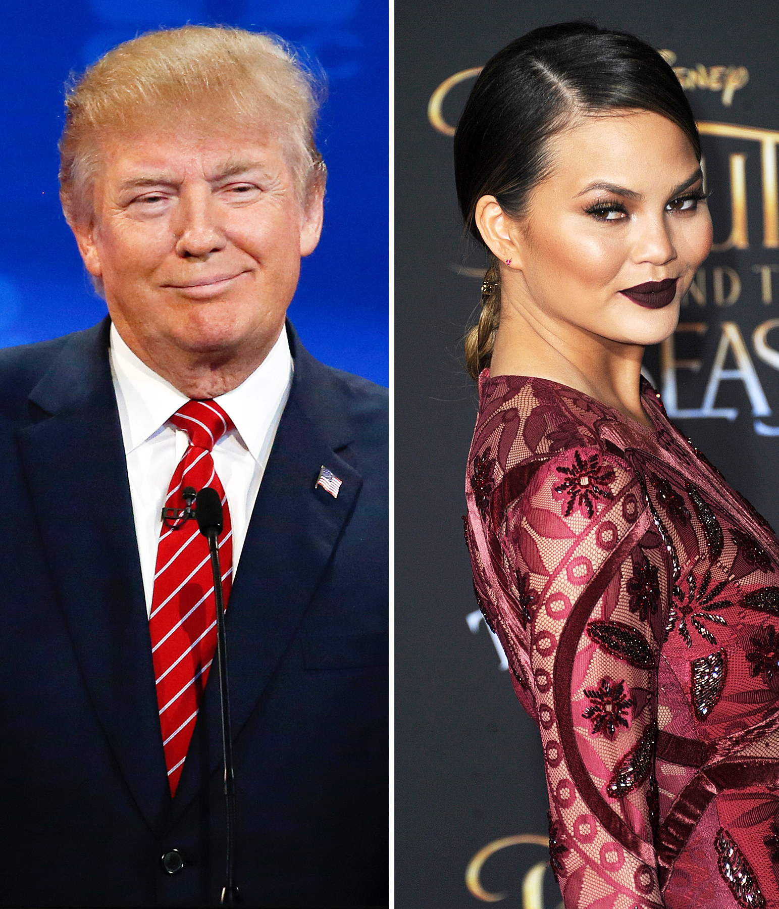 Donald Trump and Chrissy Teigen
