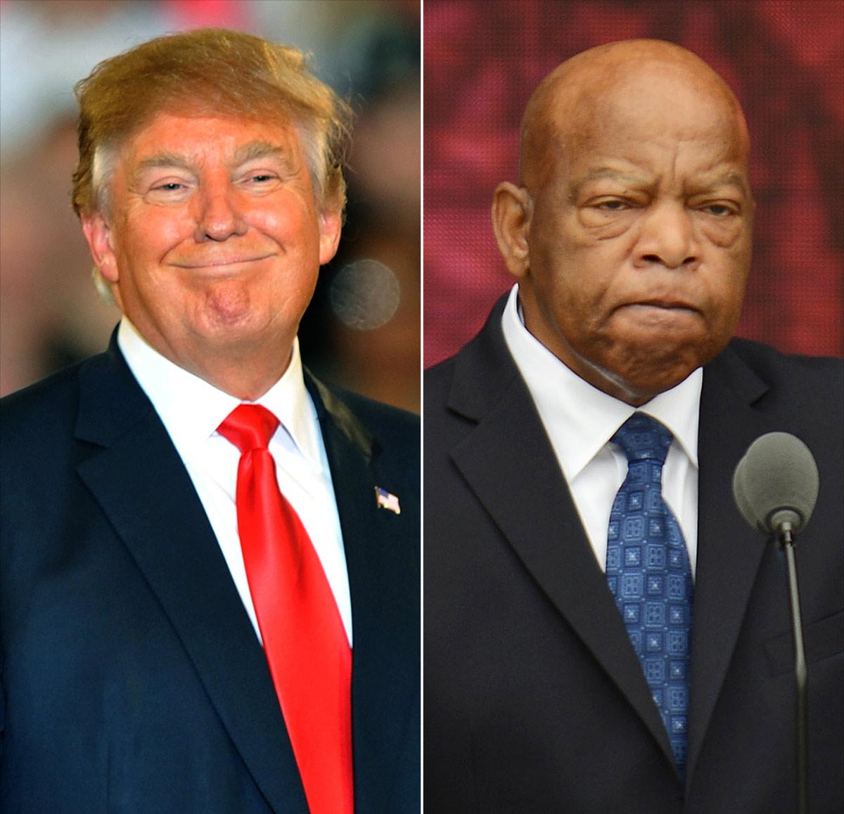 Donald Trump and John Lewis