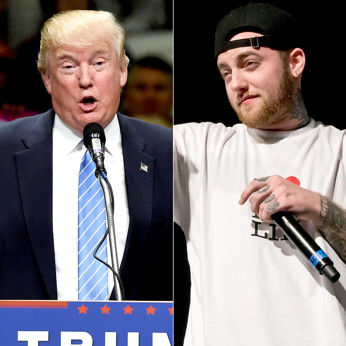 Donald Trump and Mac Miller