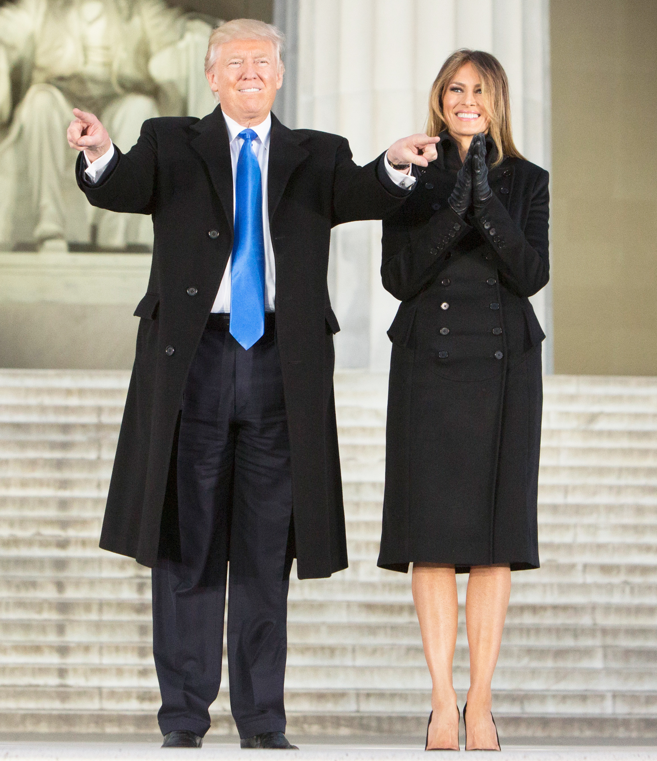 President-elect of The United States Donald J. Trump and first lady-elect of The United States Melania Trump arrive at the