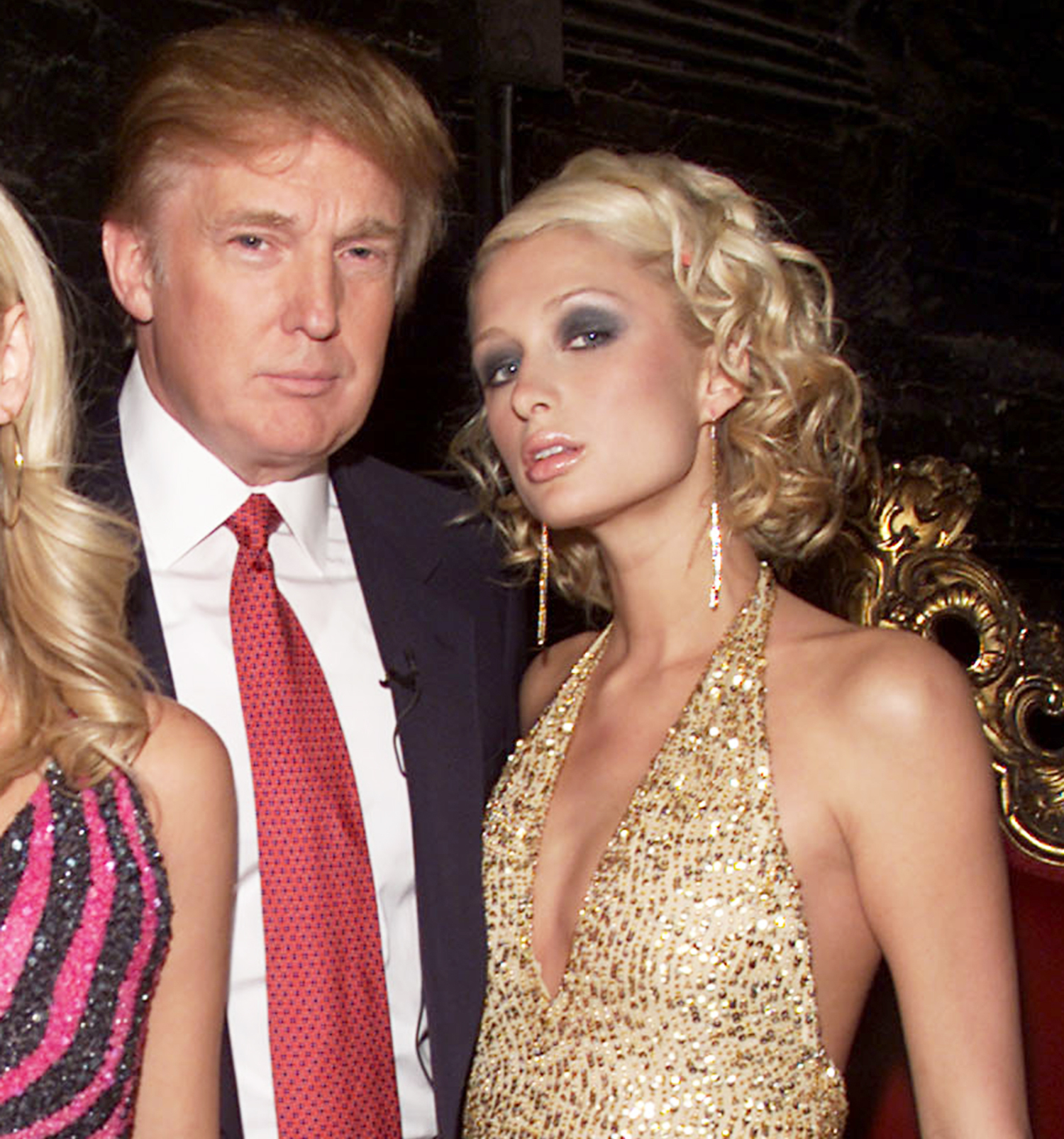 Donald Trump and Paris Hilton in New York City, on October 18, 2001