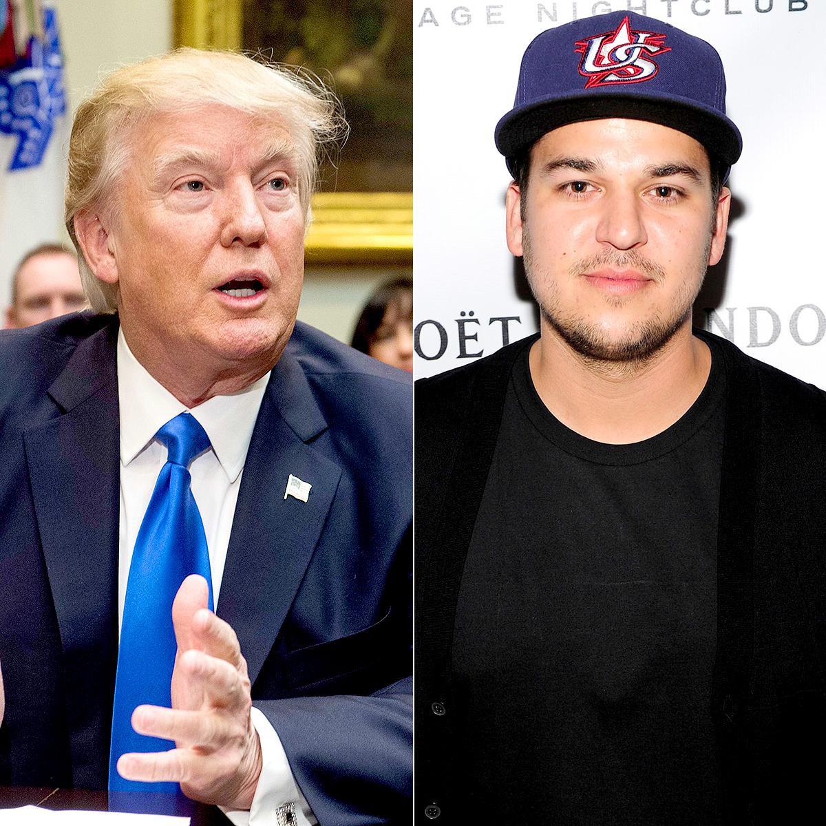 Donald Trump and Rob Kardashian