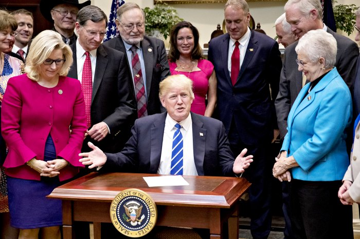 Donald Trump speaks during a bill signing ceremony in the Roosevelt Room of the White House in Washington, D.C., U.S., on Monday, March 27, 2017.