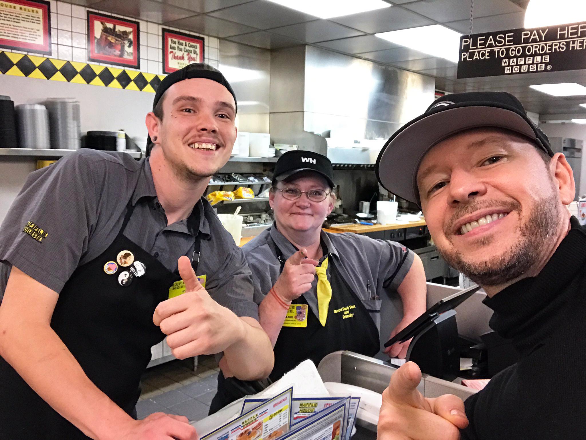 Donnie Wahlberg Waffle House