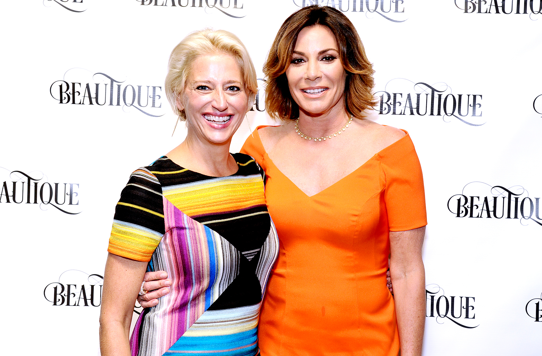 Dorinda Medley and Luann de Lesseps attend a 'Luxury Living' magazine relaunch party at Beautique in New York City on June 23, 2016.