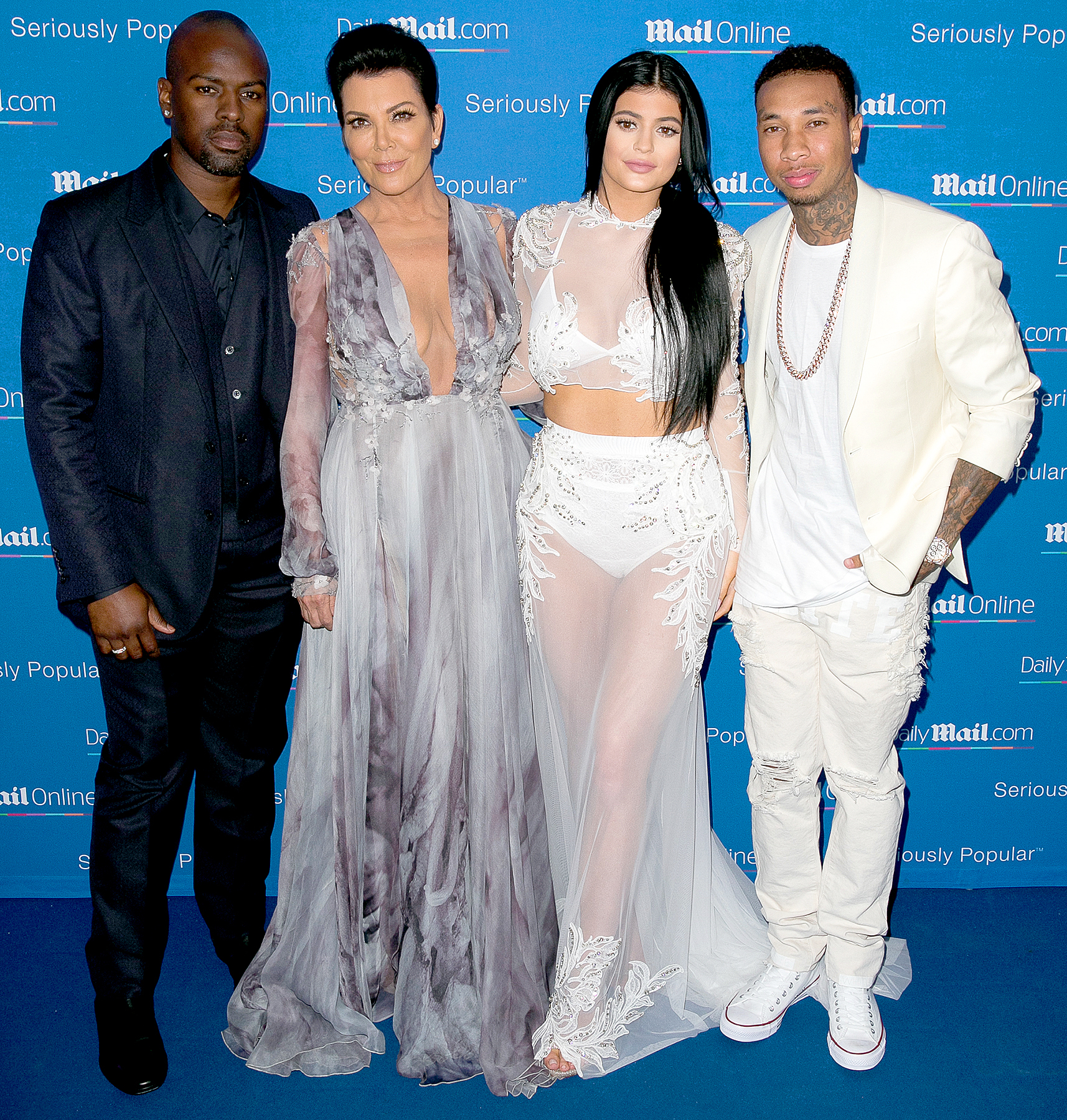 Corey Gamble, Kris Jenner, Kylie Jenner and Tyga