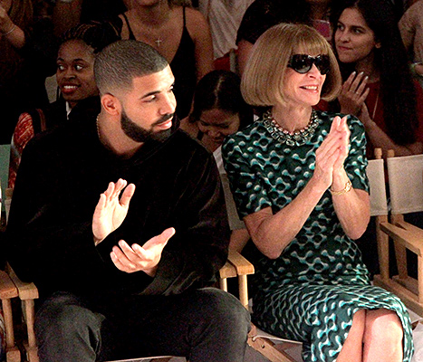 Drake and Anna Wintour - NYFW (clapping)