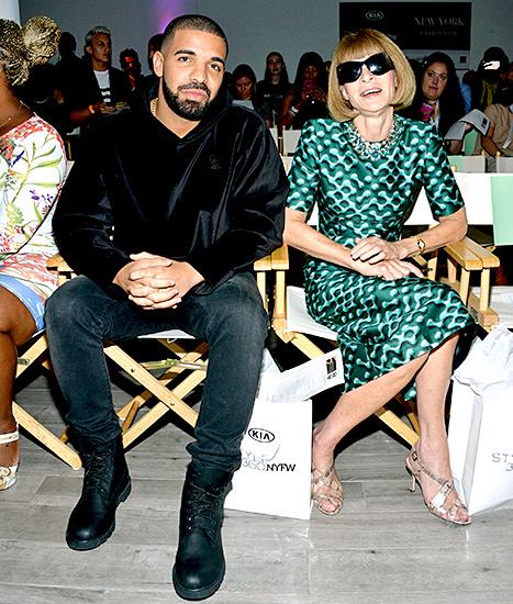 Drake and Anna Wintour - NYFW (posing)