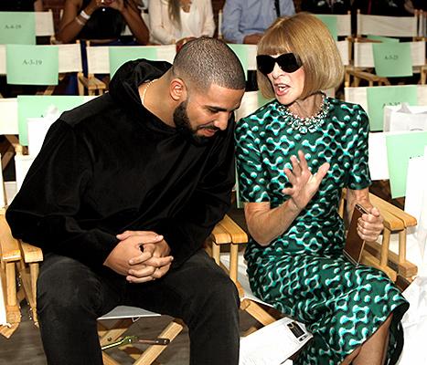 Drake and Anna Wintour - NYFW (talking)