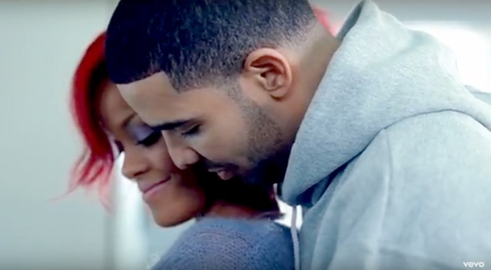 Rihanna and Drake in the 'What's My Name?' video