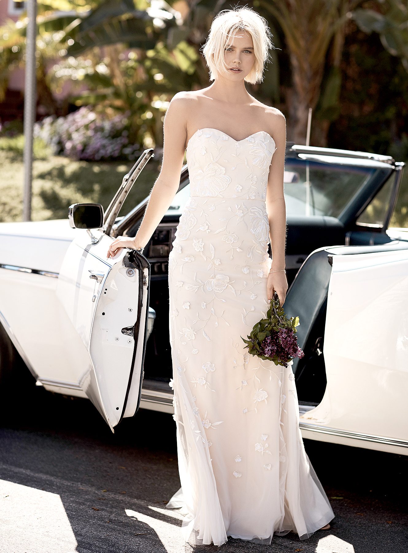 Floravere's R. Gilmore curve-hugging strapless gown.