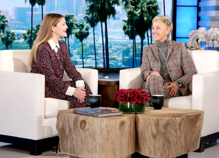 Drew Barrymore and Ellen DeGeneres