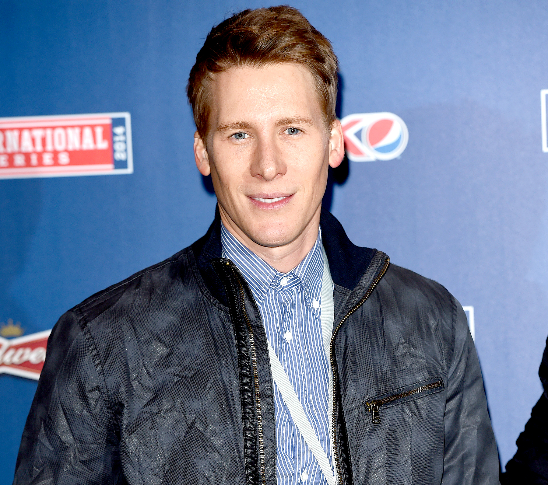 Dustin Lance Black attends as the Dallas Cowboys play the Jacksonville Jaguars in an NFL match at Wembley Stadium on November 9, 2014 in London, England.