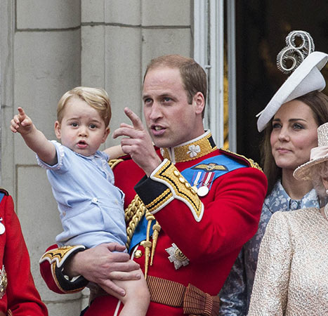 Prince George pointing