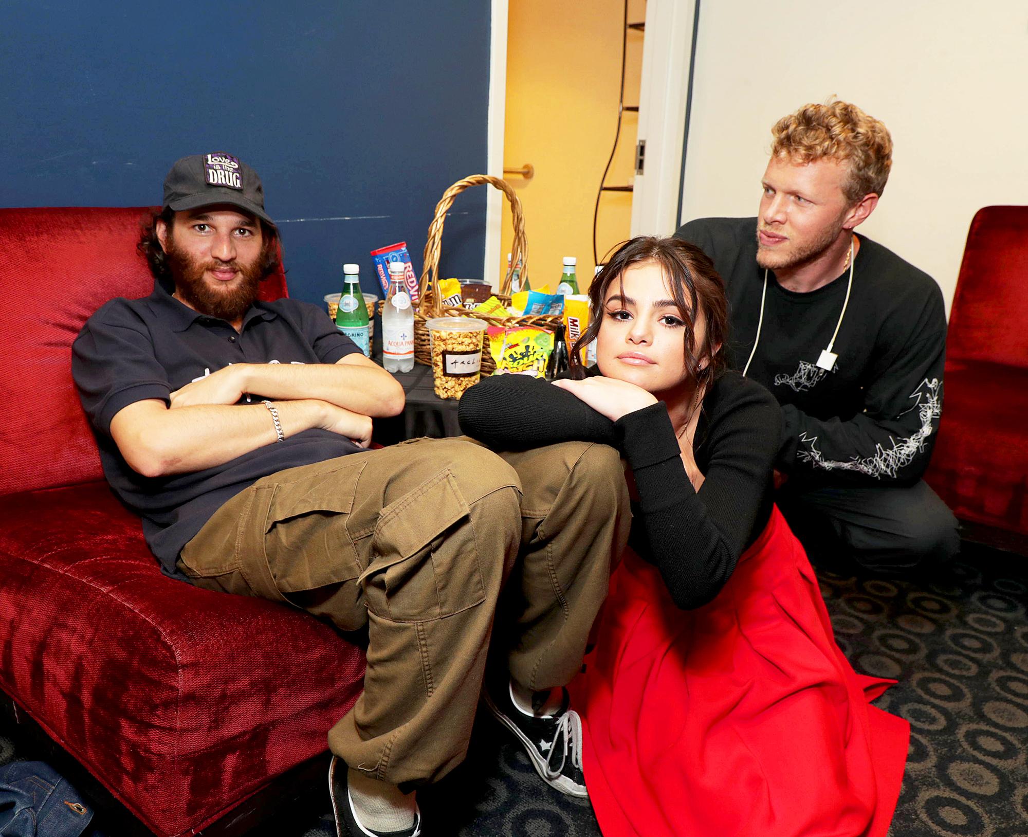 Joshua Safdie, Selena Gomez and Sebastian Bear-McClard