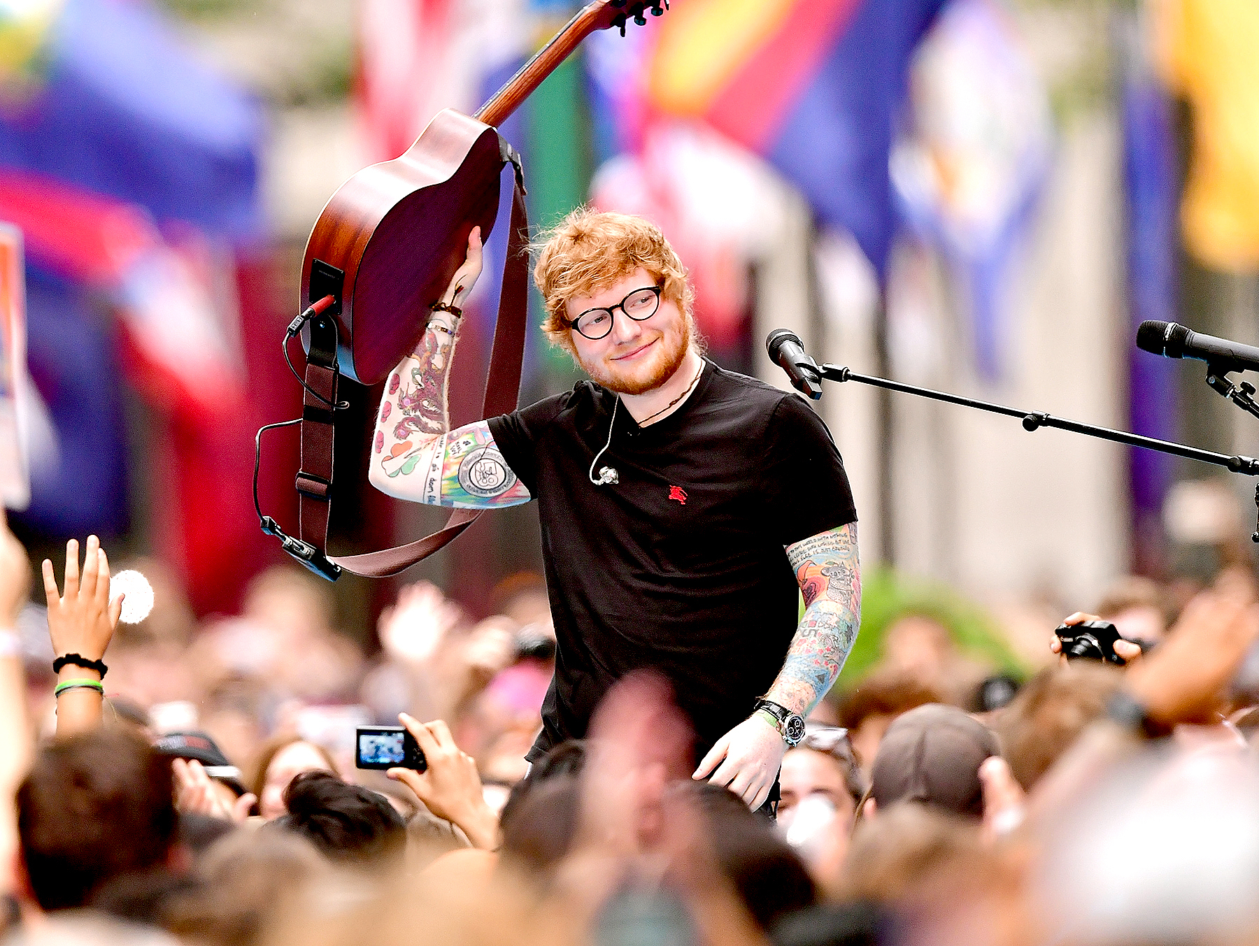 Ed Sheeran performs on NBC's 'Today' show at Rockefeller Center on July 6, 2017 in New York City.