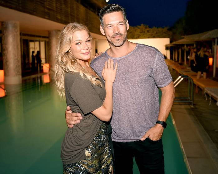 LeAnn Rimes and Eddie Cibrian attend the 'Maxim' Magazine Worldwide Swimwear Collection launch at SLS South Beach on July 18, 2015, in Miami.