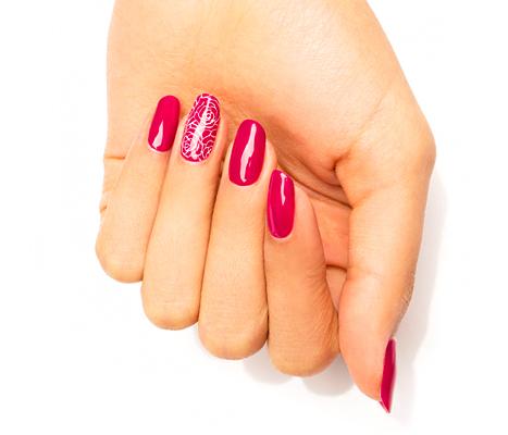 V-Day Manis Rose manicure