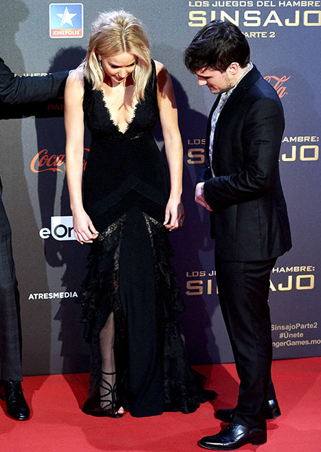 jen looks at dress