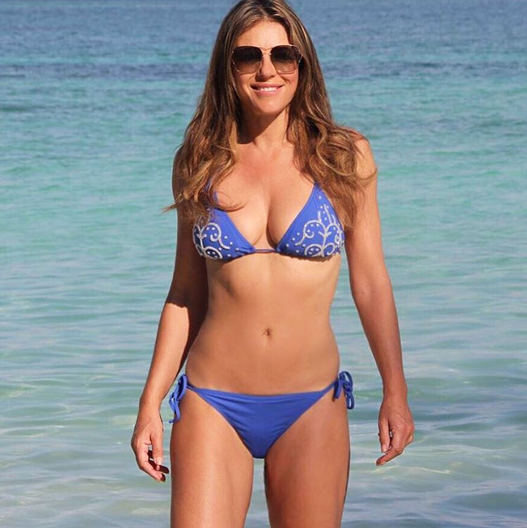 Elizabeth Hurley >> Elizabeth Hurley 51 Stuns In Teeny Bikini Photo