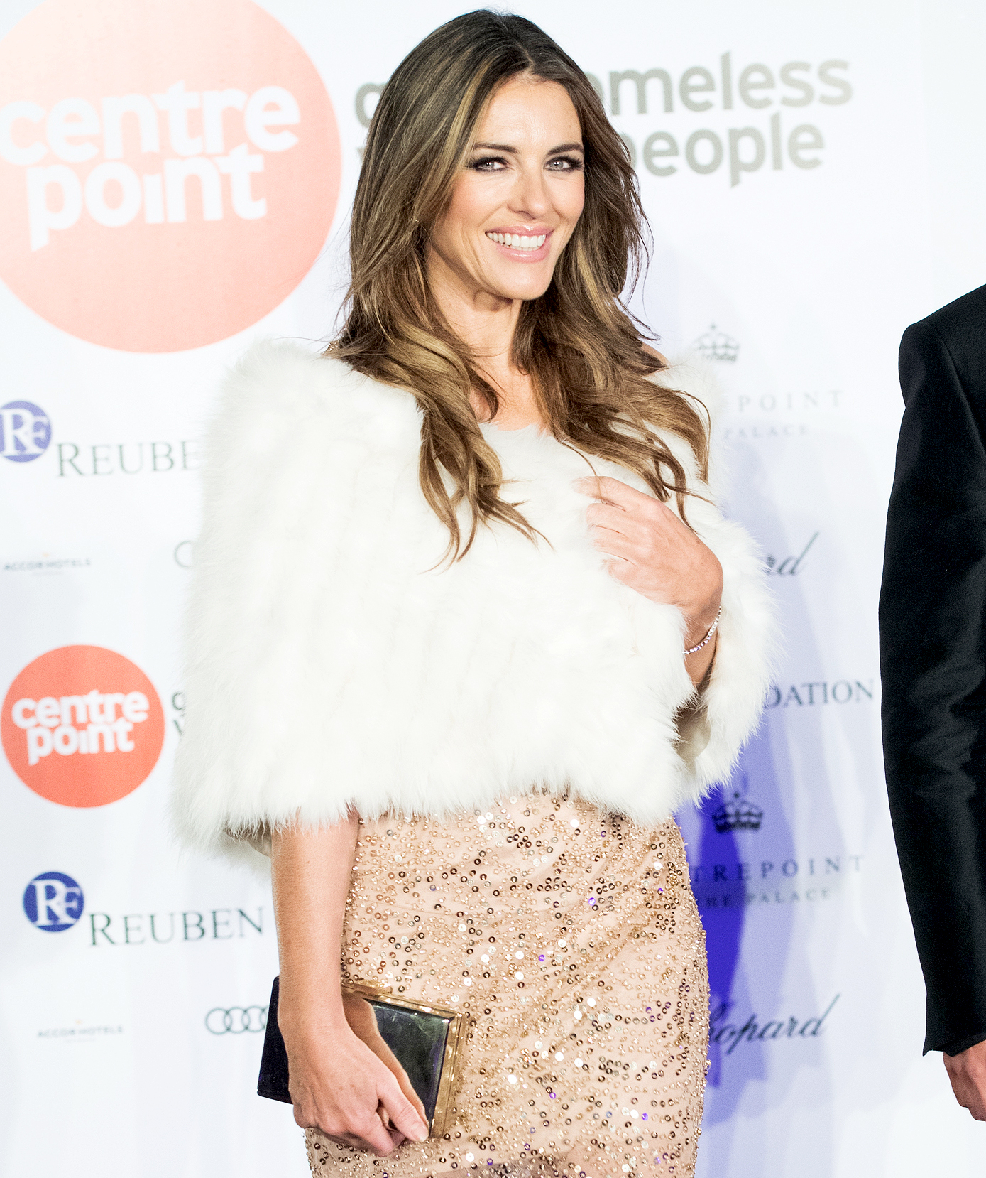 Elizabeth Hurley attends Centrepoint At The Palace at Kensington Palace on November 10, 2016 in London, England.