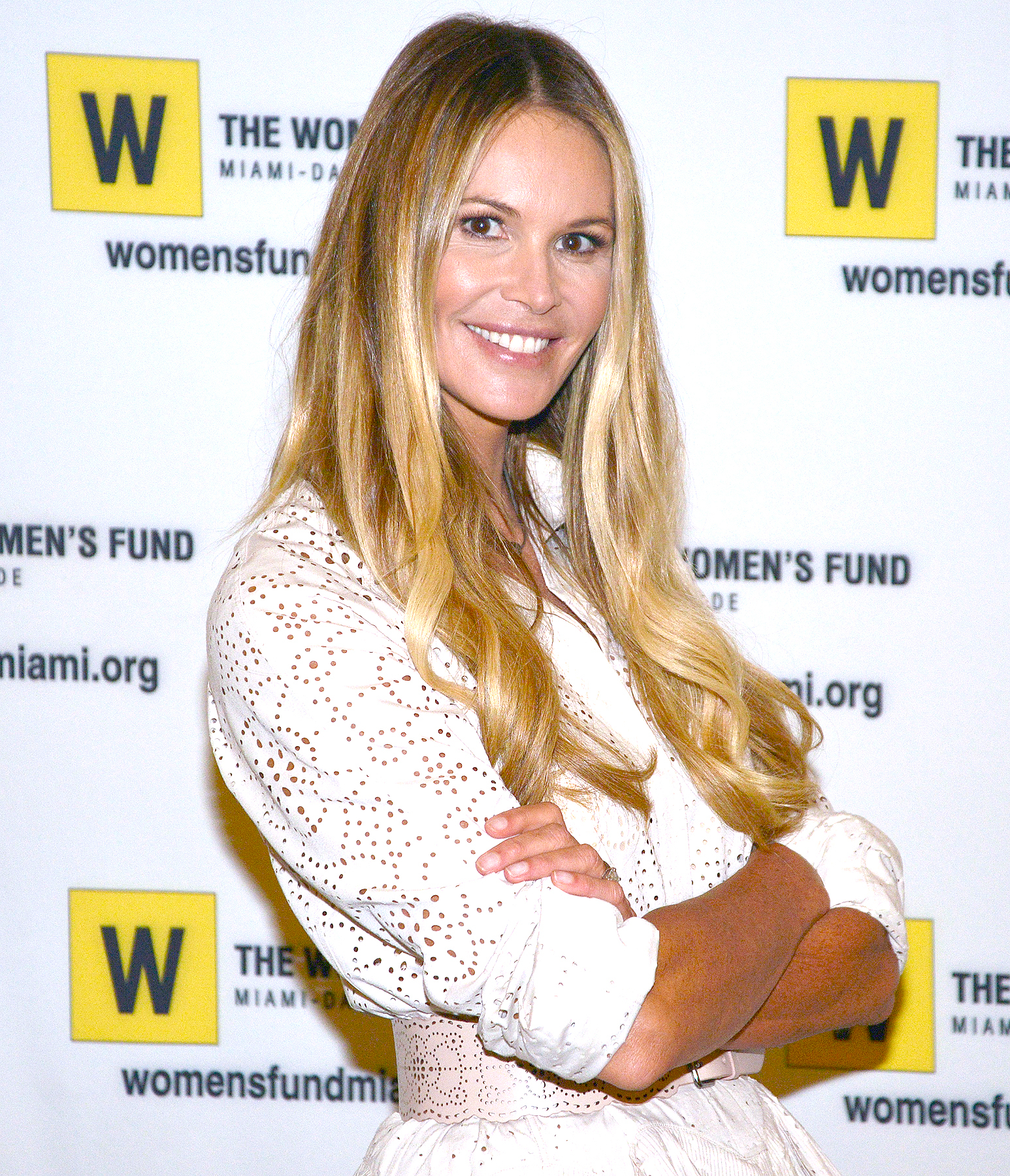 Elle Macpherson hosts the 2015 Power of the Purse Luncheon to benefit the Women's Fund on March 13, 2015, in Miami.