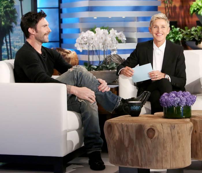 Adam Levine on 'The Ellen DeGeneres Show.'