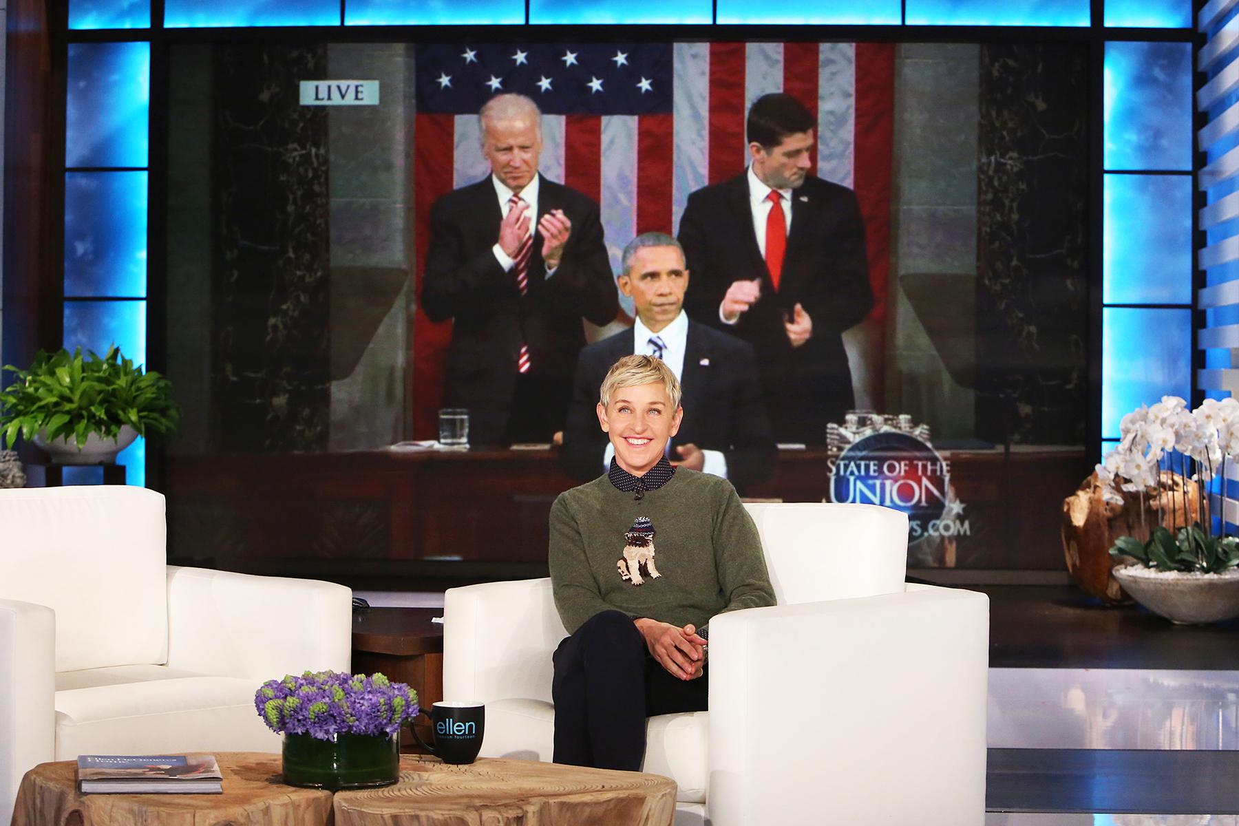Ellen Degeneres President Obama