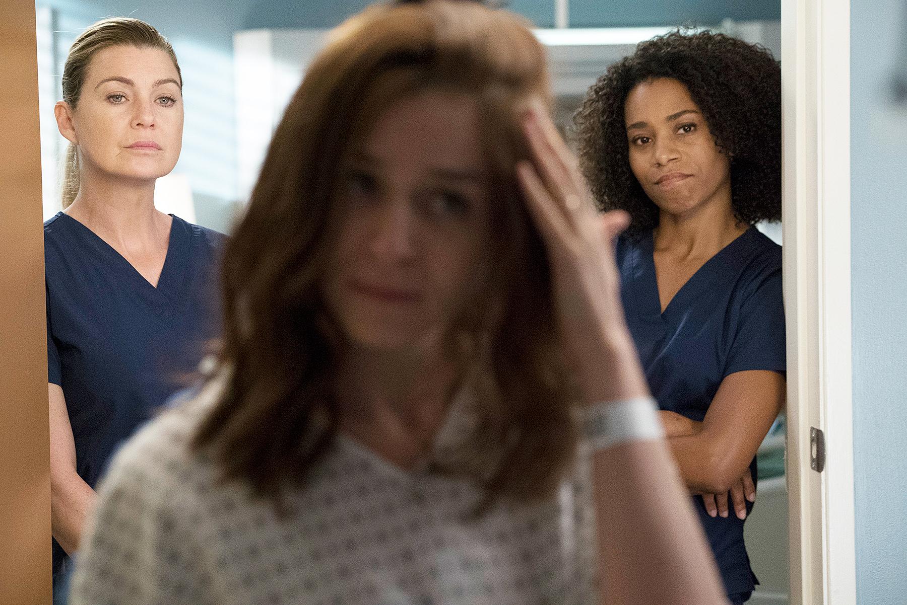 ELLEN POMPEO, CATERINA SCORSONE, KELLY MCCREARY Grey's Anatomy